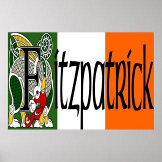 Fitzpatrick Celtic Dragon Print