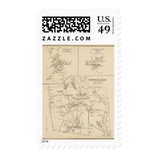 Fitzwilliam, Cheshire Co Stamps
