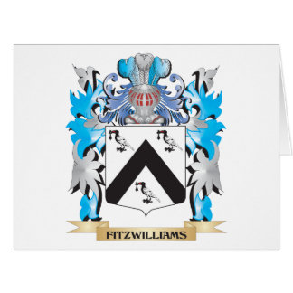 Fitzwilliams Coat of Arms - Family Crest Large Greeting Card