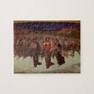 Fiumana (la marea humana) 1895-96 (aceite en lona) puzzle con fotos