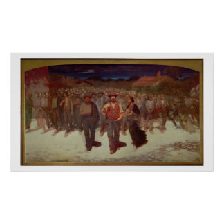 Fiumana (The Human Tide) 1895-96 (oil on canvas) Poster