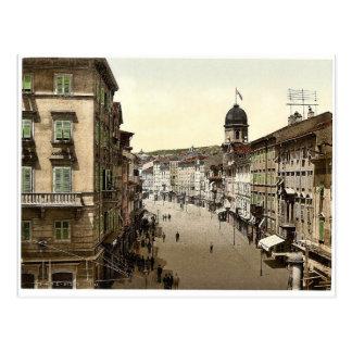 Fiume, el Corso, obra clásica de Croacia, Austro-H Postales