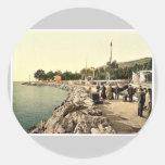 Fiume, el topo, (es decir, Molo), Croacia, Pegatina Redonda