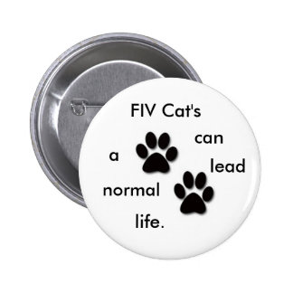 FIV Cat's badge Pinback Buttons
