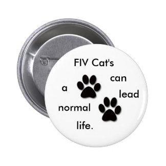 FIV Cat's badge Pinback Buttons