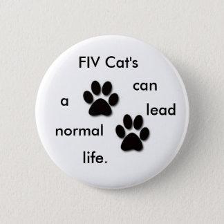 FIV Cat's badge Pinback Button
