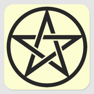 Five 芒 stars square sticker