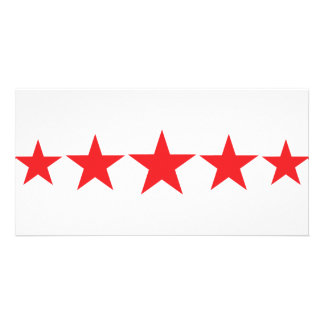 five 5 red stars deluxe card