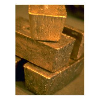 Five 90 pound gold bricks postcard