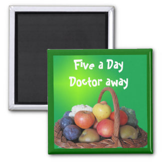 Five a Day Doctor away Refrigerator Magnet