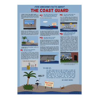 """""""Five Awesome Facts About the Coast Guard"""" Poster"""
