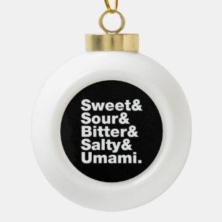 Five Basic Tastes Ceramic Ball Christmas Ornament