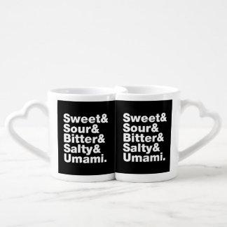 Five Basic Tastes Coffee Mug Set