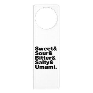 Five Basic Tastes Door Hanger