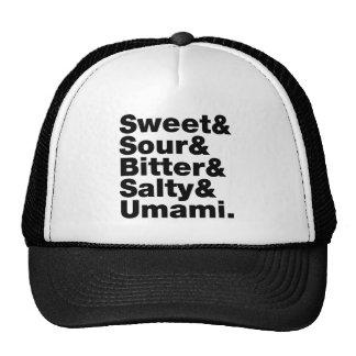Five Basic Tastes Mesh Hats