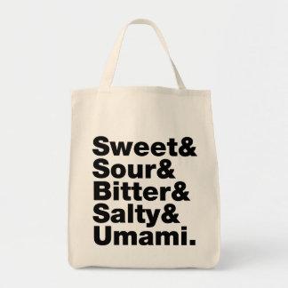 Five Basic Tastes Tote Bag