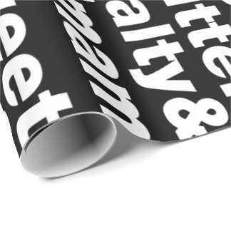 Five Basic Tastes Wrapping Paper