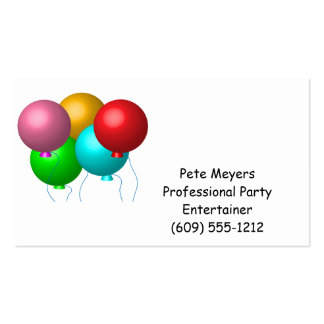 Five Birthday Balloons Business Card