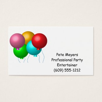 Browse products at zazzle with the theme entertainers business cards five birthday balloons business card colourmoves