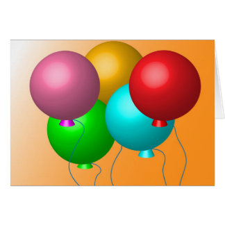Five Birthday Balloons Card