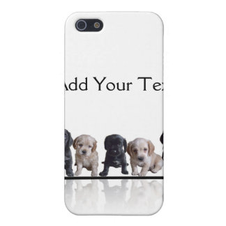 Five Black and Tan Cocker Spaniel Puppies Cover For iPhone SE/5/5s