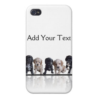 Five Black and Tan Cocker Spaniel Puppies iPhone 4 Cover