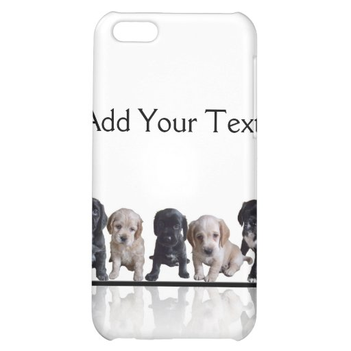 Five Black and Tan Cocker Spaniel Puppies iPhone 5C Case