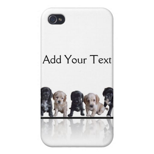 Five Black and Tan Cocker Spaniel Puppies iPhone 4/4S Cover
