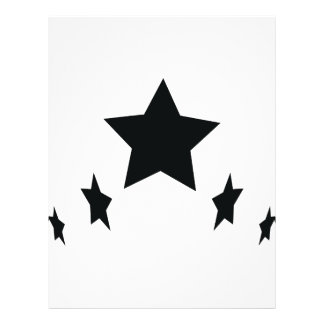 five black stars icon flyer