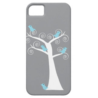 Five Blue Birds in a Tree Case iPhone 5 Cases