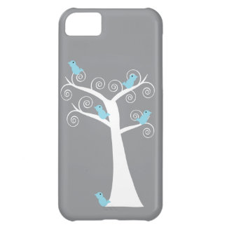 Five Blue Birds in a Tree Case iPhone 5C Covers