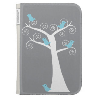 Five Blue Birds in a Tree Caseable Case Kindle Cover
