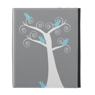 Five Blue Birds in a Tree Caseable Case