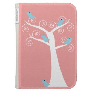 Five Blue Birds in a Tree Caseable Case Kindle Case