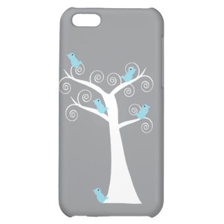 Five Blue Birds in a Tree iPhone 5C Cover