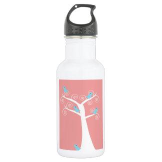 Five Blue Birds in a Tree Liberty Bottle