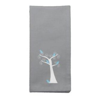 Five Blue Birds in a Tree Napkins