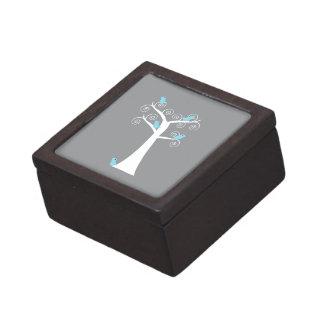 Five Blue Birds in a Tree Premium Gift Box