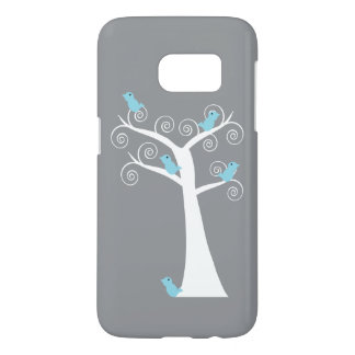 Five Blue Birds in a Tree Samsung Galaxy S7 Case