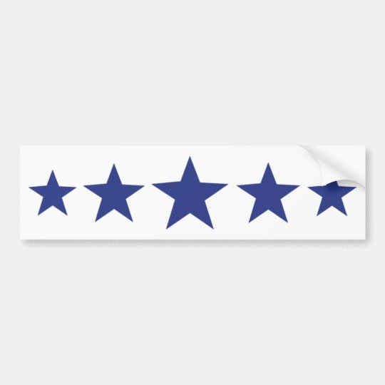 five blue stars bumper sticker