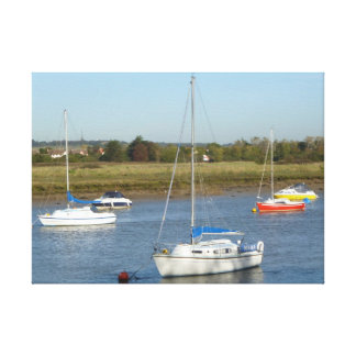 Five Boats Stretched Canvas Prints