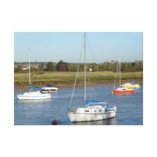 Five Boats Canvas Print
