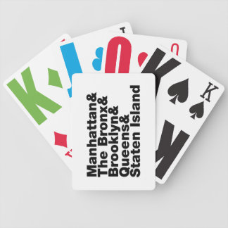Five Boroughs ~ New York City Bicycle Playing Cards