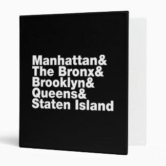 Five Boroughs ~ New York City Binder