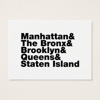 Five Boroughs ~ New York City Business Card