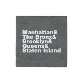 Five Boroughs ~ New York City Stone Magnet
