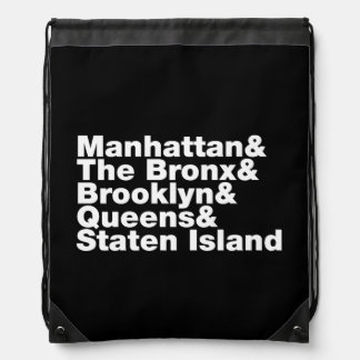 Five Boroughs ~ New York City Drawstring Backpack