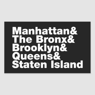 Five Boroughs ~ New York City Rectangular Sticker