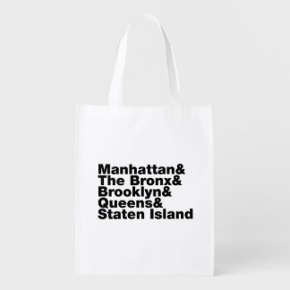 Five Boroughs ~ New York City Grocery Bag
