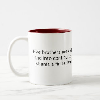 Five Brothers Divide Land Two-Tone Coffee Mug